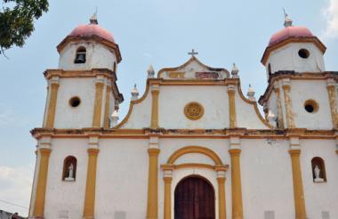 Vista de la iglesia ubicada en la plaza central del municipio de Soledad.