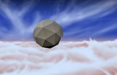 La ilustración muestra un 'windbot' surcando los cielos de Júpiter, obteniendo energía de los vientos turbulentos de la zona.