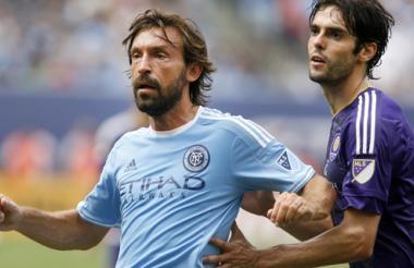 Andrea Pirlo, de New York FC, y Kaká, de Orlando City.