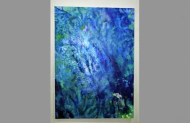La obra 'Azul orgánico', de la artista Flavia Rosales.