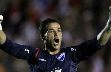 Alexis Viera, guardameta uruguayo.
