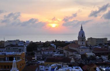 Aspecto del Centro Histórico de Cartagena.