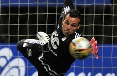 Alexis Viera, arquero uruguayo de 36 años de edad.