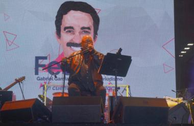 Pablo Milanés en tarima.