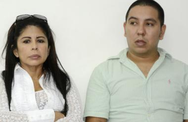 Erika Ordóñez y David Jinete, ayer en la audiencia.