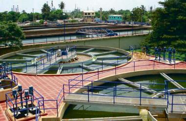 Planta de tratamiento de agua de Triple A, ubicada en la capital del Atlántico.