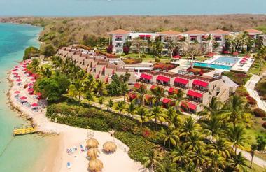 La cadena de hoteles Decamerón en la isla de Barú, en Bolívar,  presta sus servicios desde 2009.