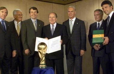 Joseph Blatter reunido con el alemán Franz Beckenbauer.