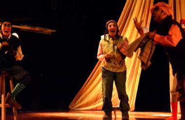 Puesta en escena de 'Sueño de una noche de verano', en el Teatro de Bellas Artes.
