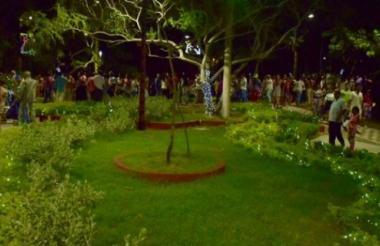 El parque es ahora otro atractivo de Cartagena.