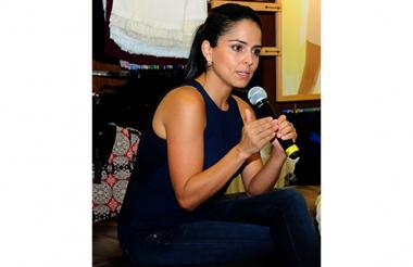En la foto, Claudia Palacios.