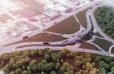 Diseño del paso a nivel que contempla el proyecto en la entrada y salida al aeropuerto Ernesto Cortissoz.