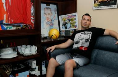 El portero uruguayo Alexis Viera, en Montevideo.