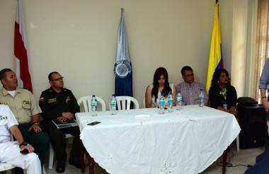 Diego Fernando Mora Arango, director de la UNP, durante la ceremonia.