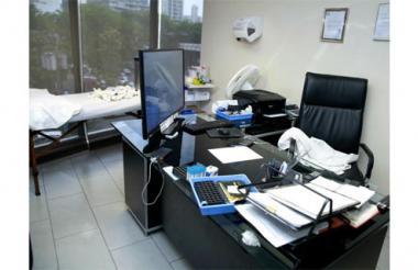 Oficina del supuesto médico colombiano en Panamá.