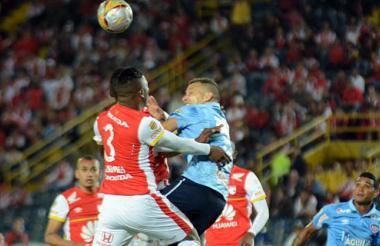Acción de juego en el estadio Nemesio Camacho El Campín, el pasado 28 de noviembre de 2015.