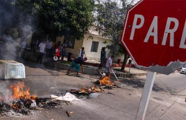 Una de las protestas registradas esta semana en Barranquilla contra Electricaribe.