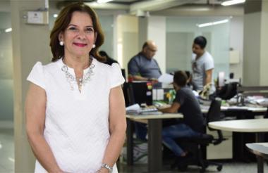 La presidente de la Corte Suprema de Justicia, Margarita Cabello Blanco, en la sala de redacción de EL HERALDO.