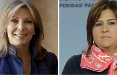La primera dama, María Clemencia Rodríguez, y la ministra de la Presidencia, María Lorena Gutiérrez.
