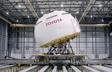 Imagen del  equipo de prueba del sistema Ángel Guardián, en el que trabaja Toyota.