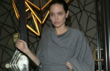 Fotografía reciente de Angelina Jolie tomada en Londres.