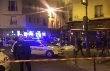 Zona del atentado del pasado 13 de noviembre en París.
