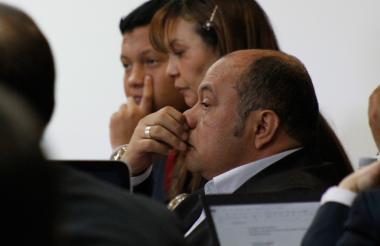 Luis Alonso Colmenares Rodríguez durante la audiencia este lunes.
