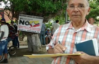 Jaime Cuadrado Díaz, uno de los firmantes en la Plaza de la Paz.