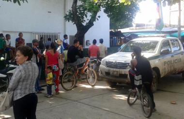 Esta es la estación de Policía de Majagual, Sucre, en donde prestaba sus servicios la patrullera Kelly Rocha.