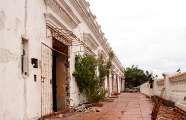 Parte trasera del Palacio de la Proclamación que está siendo intervenido para convertirlo en museo y centro de actividades culturales.