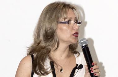 Mónica Jiménez, en la presentación de resultados.