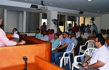 Audiencia de lectura de fallo de primera instancia en proceso disciplinario que sanciona con destitución e inhabilidad por 13 años a 15 concejales y al contralor de Valledupar.