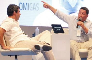 El alcalde de Cartagena, Manuel Vicente Duque, junto a su homólogo barranquillero, Alejandro Char.