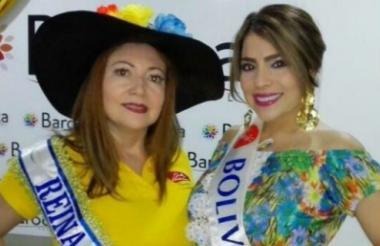 Claudia Lascarro y Geraldine Acuña, señorita Bolívar.