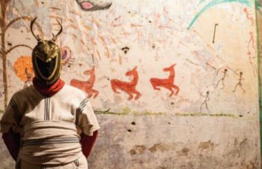 'Chamanes urbanos', obra multimedios del artista Giuliano Cavalli, que será expuesta hoy.
