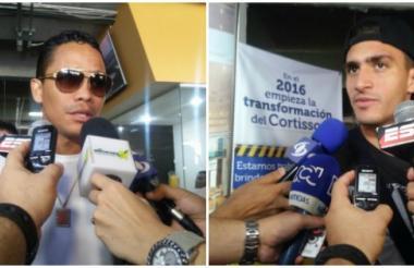 Carlos Bacca y Guillermo Celis llegaron a Barranquilla este lunes luego de hacer parte de la nómina de la selección Colombia en la Copa América Centenario.