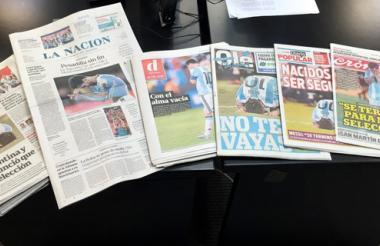 Portadas de varios medios argentinos, hoy 27 de junio de 2016.