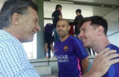 Mauricio Macri y Lionel Messi.