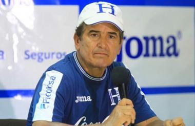 Jorge Luis Pinto, director técnico de Honduras.