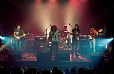 La banda León Bruno, uno de los principales exponentes del género en la ciudad.