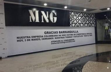 Tienda Mango en el centro comercial Buenavista.