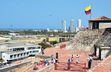 Castillo de San Felipe de Barajas en Cartagena de Indias.