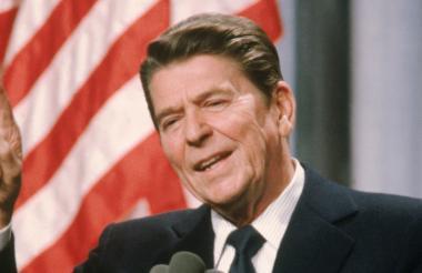 El expresidente Ronald Reagan.