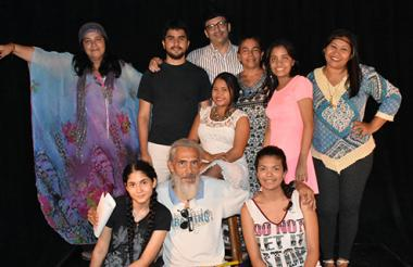 Algunos de los narradores participantes.