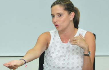 La directora del ICBF, Cristina Plazas.