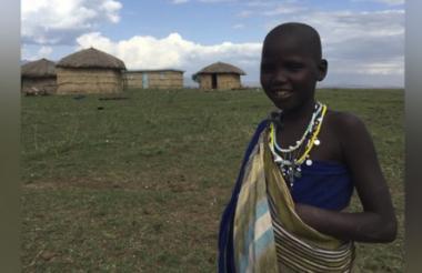 Una niña de Tanzania en África.