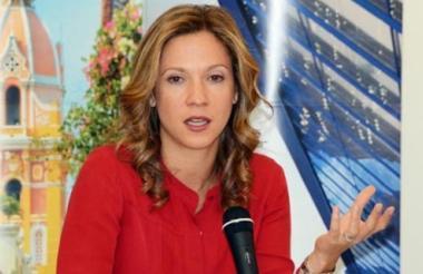 La ministra de Comercio, Industria y Turismo, María Claudia Lacouture.