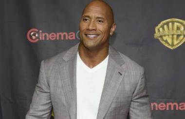 El actor Dwayne Johnson, apodado 'La Roca'.