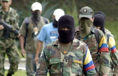 Militantes de las Farc.