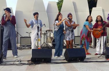 Cuenteros durante una presentación en el Parque Sagrado Corazón, el pasado julio.
